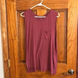 Soft and sexy maroon tank